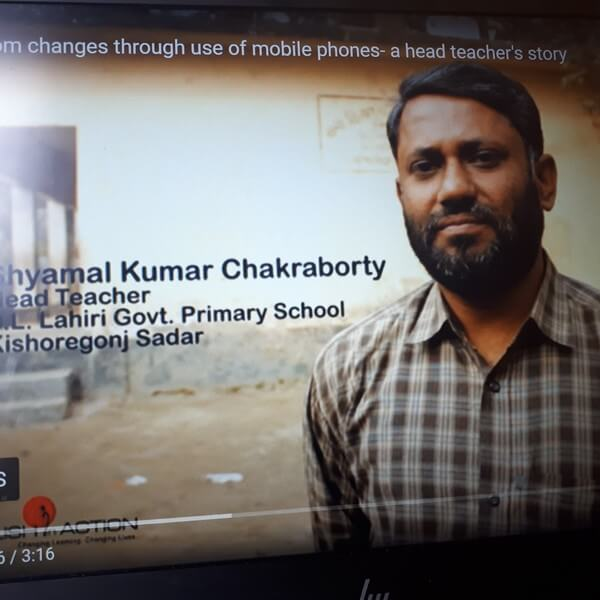 Shyamal Kumar Chakraborty, Teacher, D.L. Lahiri Primary School, Kishoreganj