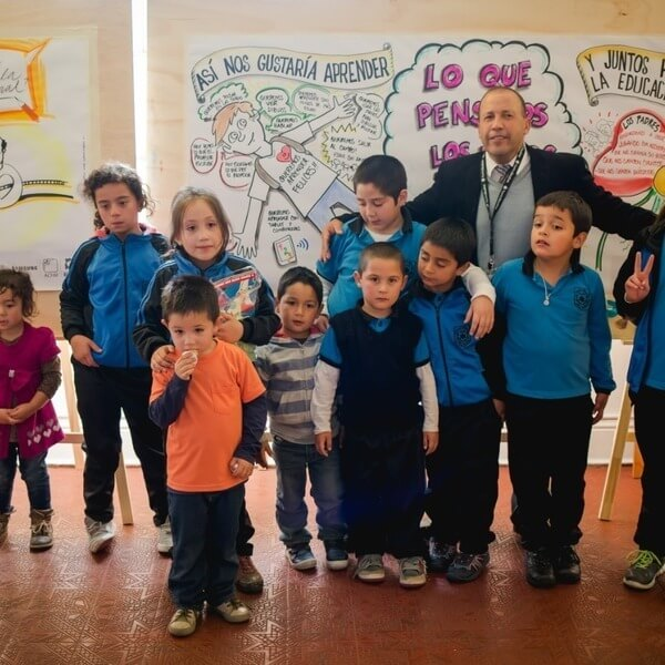 Julio Arriagada, teacher rural school Estrella de David, Chépica, Chile.